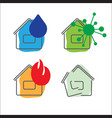 house insurance service icons vector image