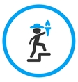 Human Figure Leader Rounded Icon vector image vector image