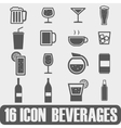 Icon Beverages On white background vector image vector image