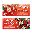 invitation merry christmas poster banner and card vector image vector image