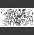 kigali rwanda map in black and white color vector image