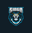 lion esport gaming mascot logo template for vector image vector image