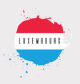 luxembourg watercolor national country flag icon vector image vector image