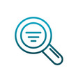 magnifying glass search analysis communications vector image