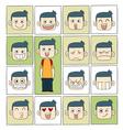Men emotions faces vector image vector image