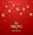 Merry christmasretro poster vector image vector image