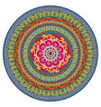ornament multicolor card with mandala vector image vector image