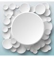 Paper round banners vector image