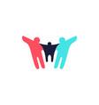 parent children logo icon vector image vector image