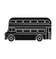 passenger bus single icon in black style vector image vector image