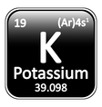 Periodic table element potassium icon