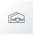 plane hangar icon line symbol premium quality vector image