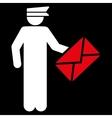 Postman icon vector image vector image