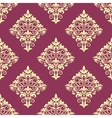 Purple and beige floral arabesque pattern vector image vector image