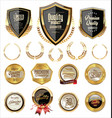 quality golden labels and shields collection vector image vector image