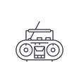 record player line icon concept record player vector image