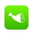 roast pork knuckle icon digital green vector image vector image