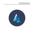 rock mountain icon vector image vector image
