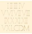 Roman numbers set Modern Roman Classic number vector image