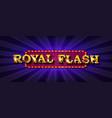 royal flush online poker casino vector image