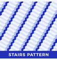 Seamless pattern white stairs geometric
