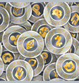 seamless pattern with a lot coins vector image