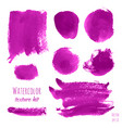 set of magenta pink purple lilac watercolor vector image vector image