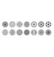 sewer manhole caps icons monochrome set vector image vector image