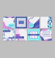 social media banner special offer promotion flyer vector image