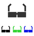 spectacles flat icon vector image vector image