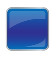 Square dark blue button for website vector image vector image