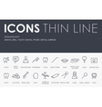 Stomatology Thin Line Icons vector image vector image