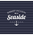 summer vacation on a seaside striped poster vector image