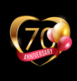 template gold logo 70 years anniversary with vector image vector image