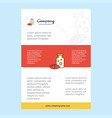 template layout for medicine comany profile vector image