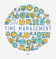 time management concept in circle vector image vector image