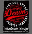 Typography vintage denim brand logo print