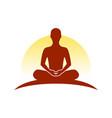 up hill meditation symbol logo design vector image vector image