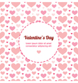 Valentines Day card template with hearts vector image vector image