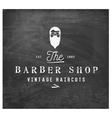 Vintage Barber Shop Design Element on Chalkboard vector image vector image