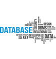 word cloud database vector image