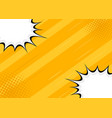 yellow retro background comics style vector image vector image