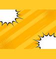 yellow retro background comics style vector image