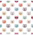 seamless pattern with cat faces vector image