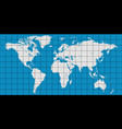 world map with coordinate grid vector image