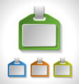 Set of colorful blank badges tags banners label vector image