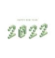 2022 new year isometric art minimal holiday vector image vector image