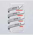 3d rectangle arrow keys up vector image