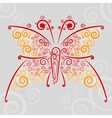 Abstract url techno-butterfly vector image vector image