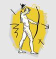 adriaen de vries apollo with bow for shooting vector image vector image